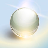 Background with 3D glass sphere Stock Photography