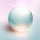 Background with 3D glass sphere Royalty Free Stock Photos