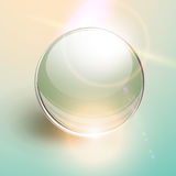 Background with 3D glass sphere Royalty Free Stock Images