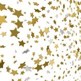 Vector background with 3d gold stars confetti. Background with 3d gold stars confetti Stock Photography