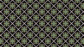 2D graphic pattern background that rotates in a clockwise direction composed of several designs with multicolored texture. stock illustration