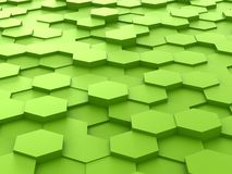 Background of 3d green hexagon blocks Royalty Free Stock Images