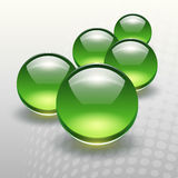 Background. With 3D green spheres, vector illustration vector illustration