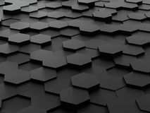 Background of 3d hexagon blocks Royalty Free Stock Photos