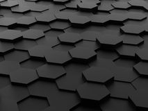 Background of 3d hexagon blocks Royalty Free Stock Photography