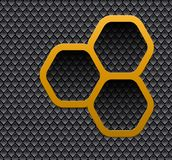 Background 3D with hexagons. And interesting pattern texture Stock Illustration