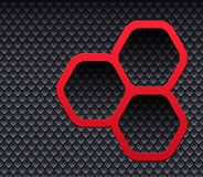 Background 3D with hexagons. And interesting pattern texture Royalty Free Stock Image