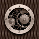 Background 3D with machinery gears Stock Photos