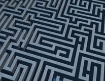 Background with 3d maze Stock Photo