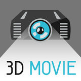 Background with 3d movie projector. Vector background with 3d movie abstract projector Stock Photography