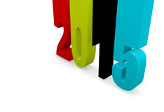 2015 Background. 3d New Year concept of 2015 Stock Image