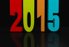 2015 Background. 3d New Year concept of 2015 Stock Photography