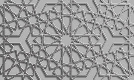 Background with 3d seamless pattern in Islamic style. Background with 3d seamless pattern Islamic style Royalty Free Stock Photos