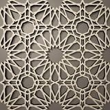 Background with 3d seamless pattern in Islamic style .    , arabic geometric east ornament , persian motif . Background with 3d seamless pattern in Islamic Royalty Free Stock Photos