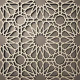 Background with 3d seamless pattern in Islamic style .    , arabic geometric east ornament , persian motif . Background with 3d seamless pattern in Islamic Stock Photos