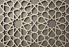 Background with 3d seamless pattern in Islamic style .    , arabic geometric east ornament , persian motif . Background with 3d seamless pattern in Islamic Royalty Free Stock Photo