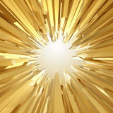 Background with 3d sharp golden crystal shapes. Abstract sharp golden crystallized background Stock Photo