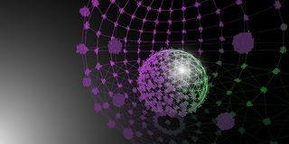 Background 3d spheres grid concept . Sphere with connected lines. And dots. Vector Illustration vector illustration