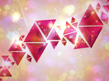 Background of 3d Triangles Stock Photos