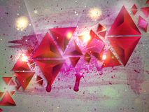 Background of 3d Triangles Royalty Free Stock Image