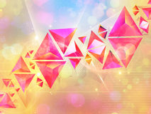 Background of 3d Triangles Stock Photography