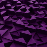 Background of 3d violet triangle blocks Stock Image