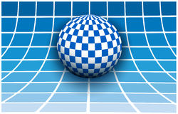 Background 3d white and blue Royalty Free Stock Image