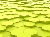 Background of 3d yellow hexagon blocks Royalty Free Stock Photo