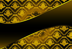 Background with damask pattern Royalty Free Stock Photos