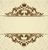 Background with damask pattern Stock Photos