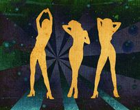 background dancing girl retro ελεύθερη απεικόνιση δικαιώματος