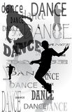 Background of the dancing people Royalty Free Stock Photography