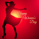 Background with dancing woman silhouette for women`s day Royalty Free Stock Photography