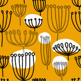 Background with dandelion. Seamless pattern with blowballl. Stock Images