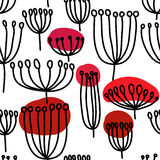 Background with dandelion. Seamless pattern with blowballl. Royalty Free Stock Images