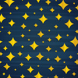 Background with dark blue sky and stars. Seamless pattern of stars on blue wallpaper. Stars in cartoon comic style Stock Photography