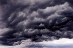 Background of dark clouds. Before a thunder-storm Stock Photo