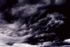 Background of dark clouds. Before a thunder-storm Royalty Free Stock Photo