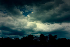 Background of dark clouds. Before a thunder-storm Royalty Free Stock Images