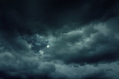 Background of dark clouds. Before a thunder-storm Royalty Free Stock Photography