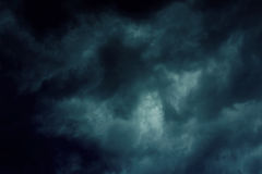 Background of dark clouds. Before a thunder-storm Stock Image