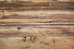 Background of dark coarse treated boards Royalty Free Stock Photography