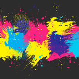 Background dark color paint. Vector dark watercolor background. Colorful abstract texture. Design elements. Painterly illustration. Vector watercolor splash Royalty Free Illustration