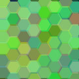Background with dark green hexagons. Raster Royalty Free Stock Photos
