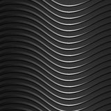 Background of dark, metallic, shiny, wavy bands. Modern 3d style. Wallpaper for the website. Beautiful texture royalty free illustration