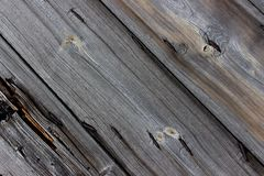 Background dark old cracked wooden boards with rusty nails close up royalty free stock images