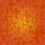 Background dark orange color halloween with crucifix pattern tex. Ture, vector illustration Stock Photo