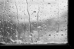 Background dark raindrop on window glass gray royalty free stock images
