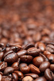 Background from dark roasted coffee beans Royalty Free Stock Photo