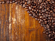 Background of dark roasted coffee beans Royalty Free Stock Photography
